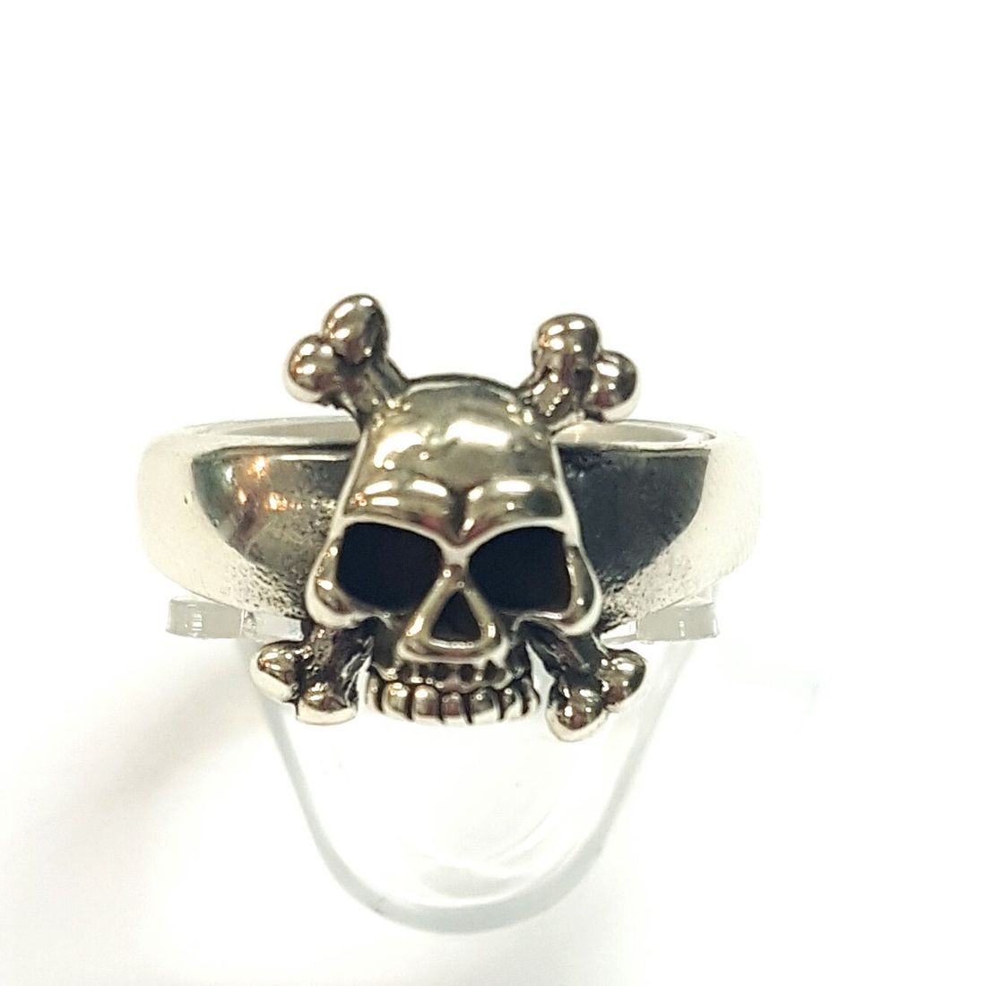 Small Skul & Cross Bonesl  Ring  available at Kazbah online and our Leicester City Centre shop