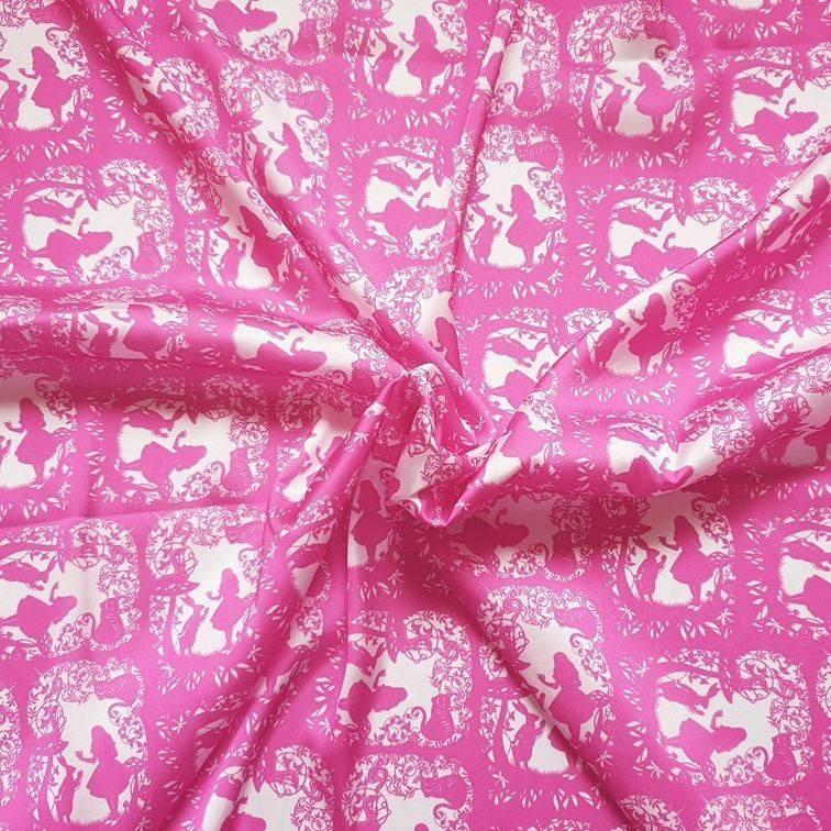 alice in wonderland, alice fabric, bramble crafts, alice in wonderland scarf