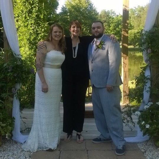 minister, officiant, tree ceremony, wedding, venue, rockwell, nc