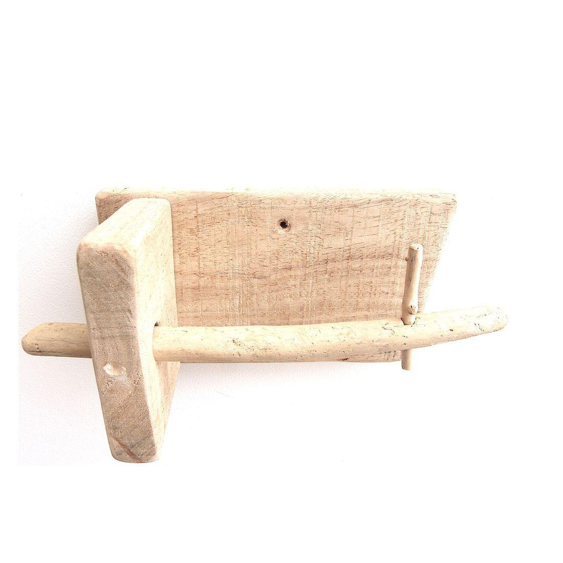 Driftwood toilet roll holder 1