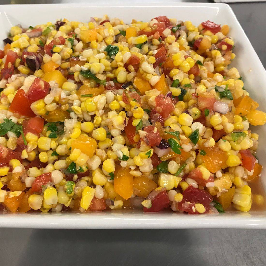 Corn Pico with all Local Ingredients
