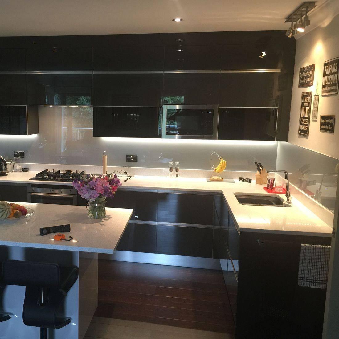 Modern Black Gloss Kitchen