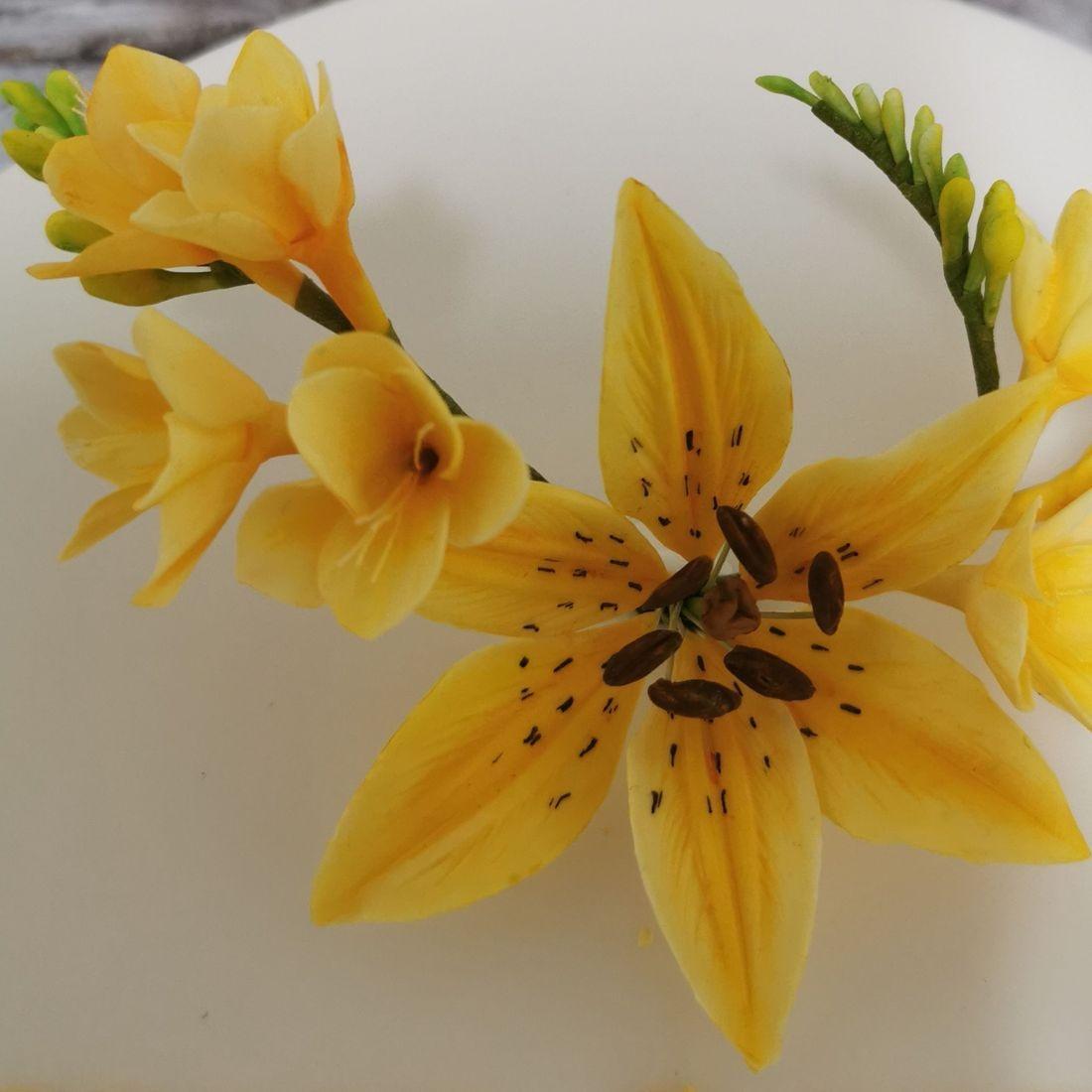 Yellow Freesia & Lily