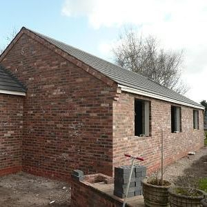 House extension in Middlesbrough with new roof  and brickwork nearing completion