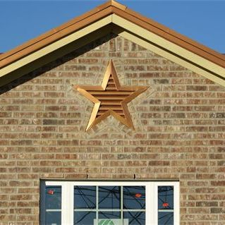 copper penny star louvered vent