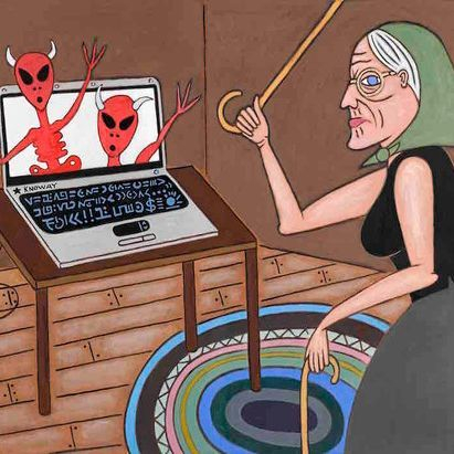 STEM, Computers, Technology, Information Superhighway, Grandma, Aliens, Devils, Braided Rugs, Natural Light, Contemporary Art, Pop Art, Pop Culture