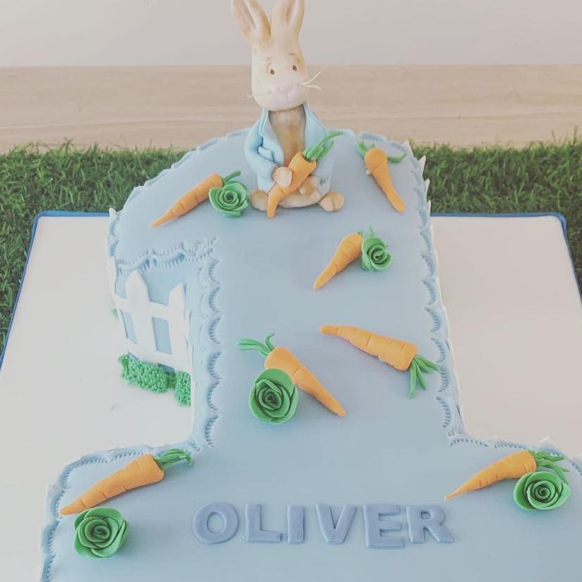 Peter rabbit number one cake Fabu-Lous Cakes