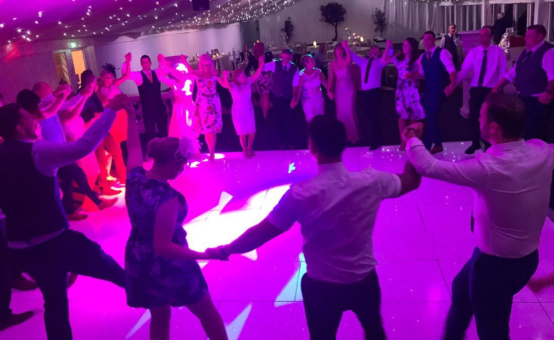 Alrewas Hayes Exclusive Country House Wedding Staffordshire Picture of the Guests Dancing at a Wedding DJ Ollie Clarke Performed at.