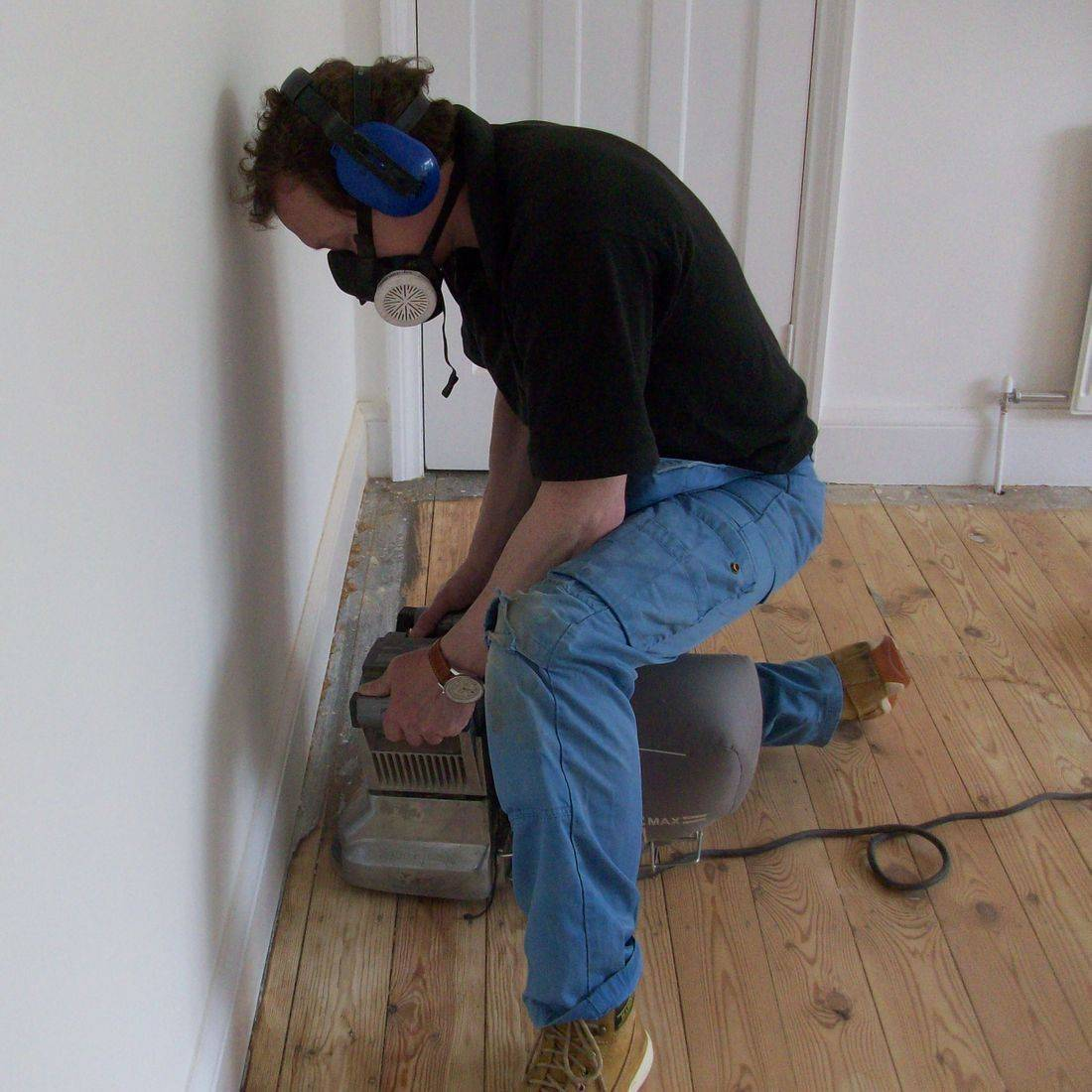 Sanding a wooden floor in Leicester