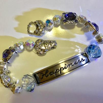 women's monet bracelet, women's crystal bracelet, women's happiness bracelet, crystal bracelet, swarovski crystal bracelet