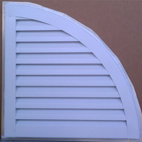 Quarter round gable vent