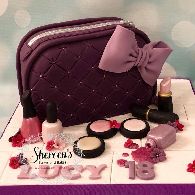 Make Up Cosmetic Bag Novelty Cake Nail Varnish Polish Lipstick Blusher
