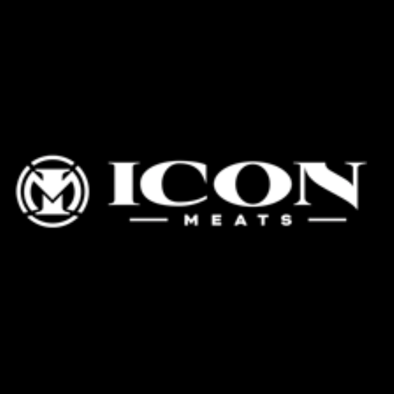 ICON Meats Logo Black background with white lettering