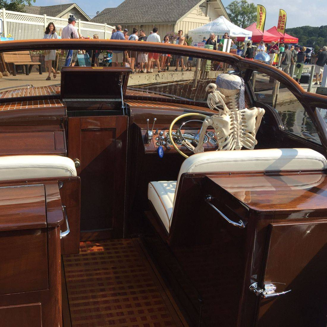 Shepherd restored by Bergersen Boat at Geneva Lakes Boat Show
