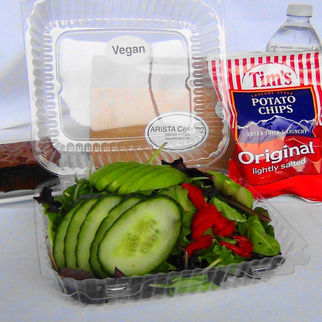 box lunch with a vegan salad