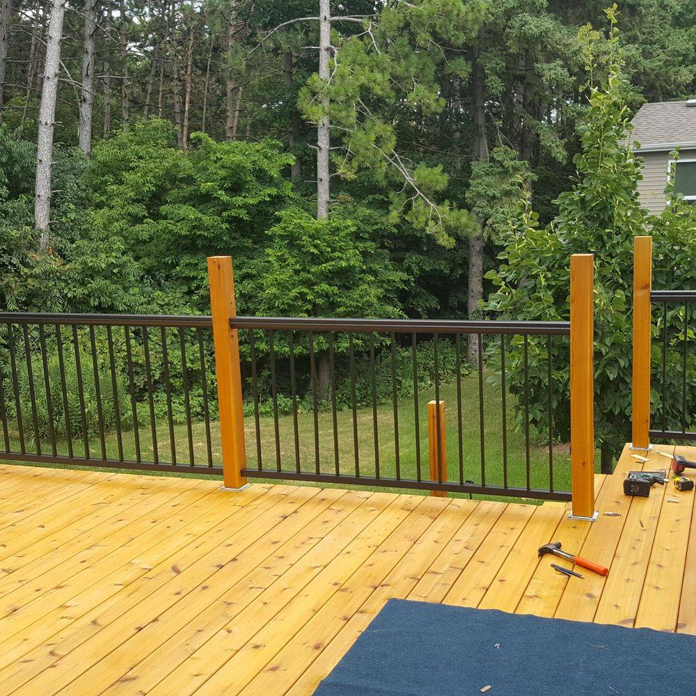 Jer Bear Homes | Inver Grove Heights | Cedar Deck | During