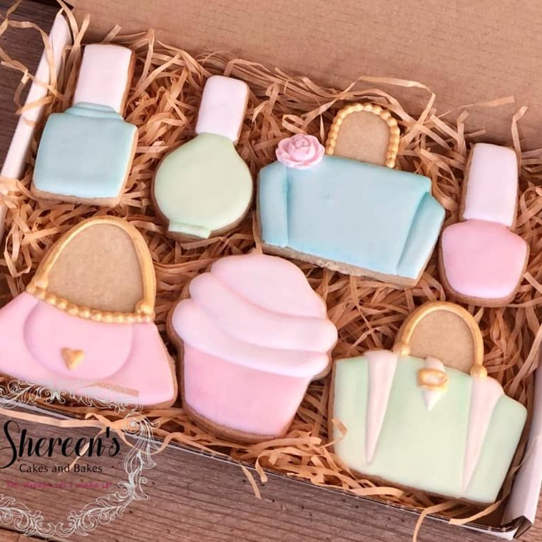 Iced Cookies Biscuits bag purse handbag nail polish varnish cupcake