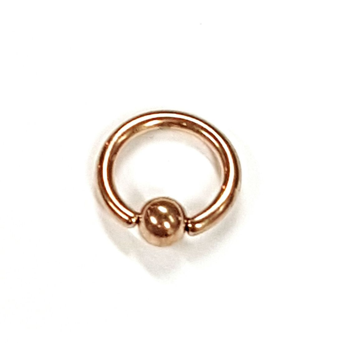 1.2mm x 6mm Rose Gold Ball Closure Ring   available at Kazbah online and our Leicester City Centre Shop