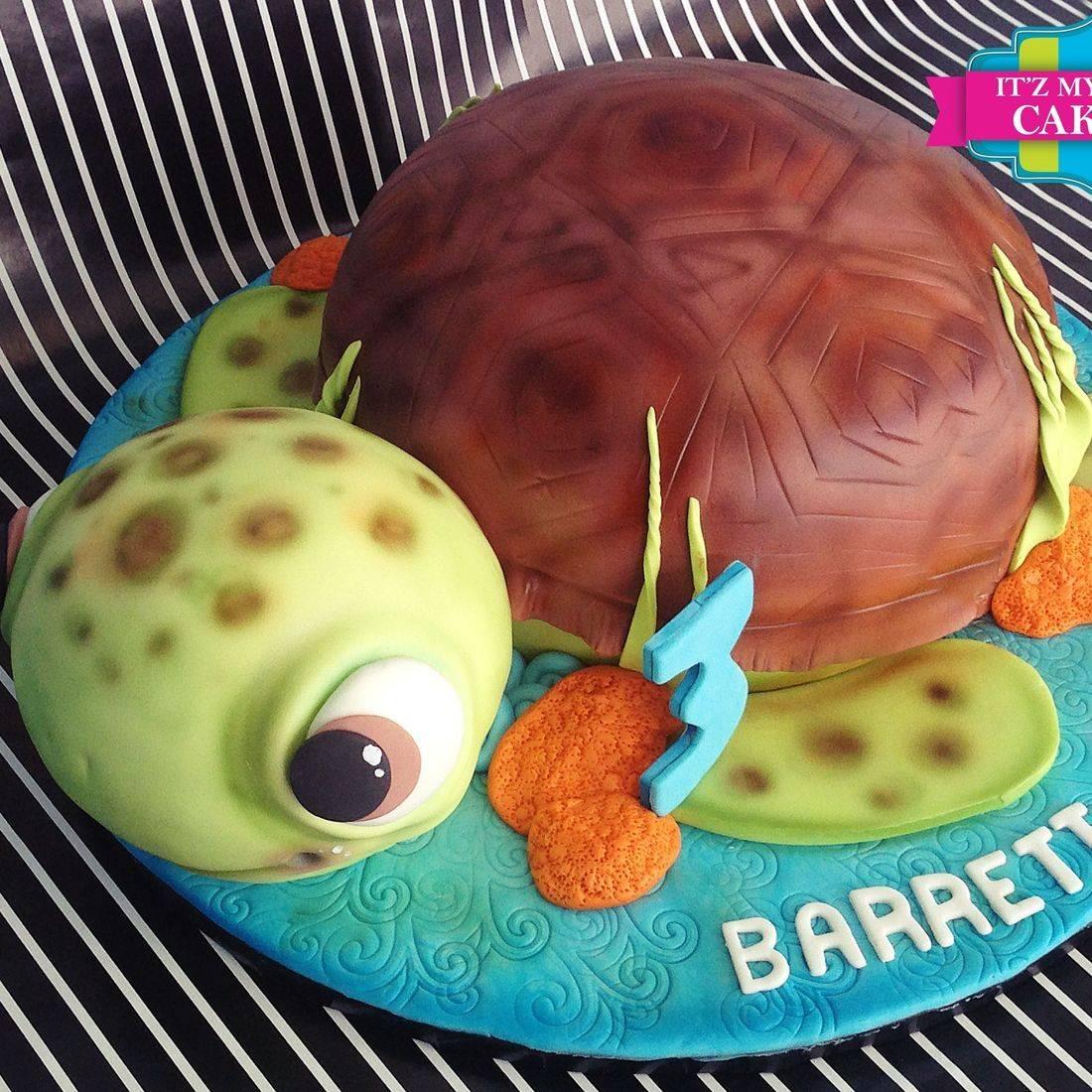 Sea Turtle Cake Carved Dimensional Cake Milwaukee
