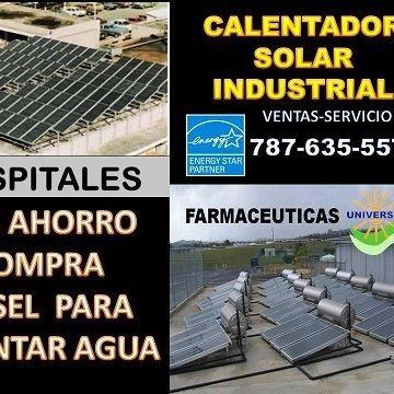 calentador solar de agua con capacidad para industrias