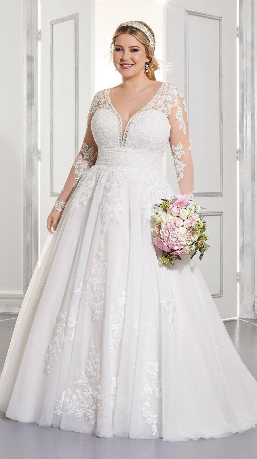 Mori Lee P lus Size Wedding Dress
