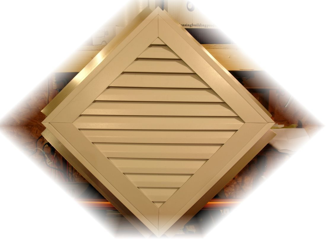 Aluminum Diamond gable vent