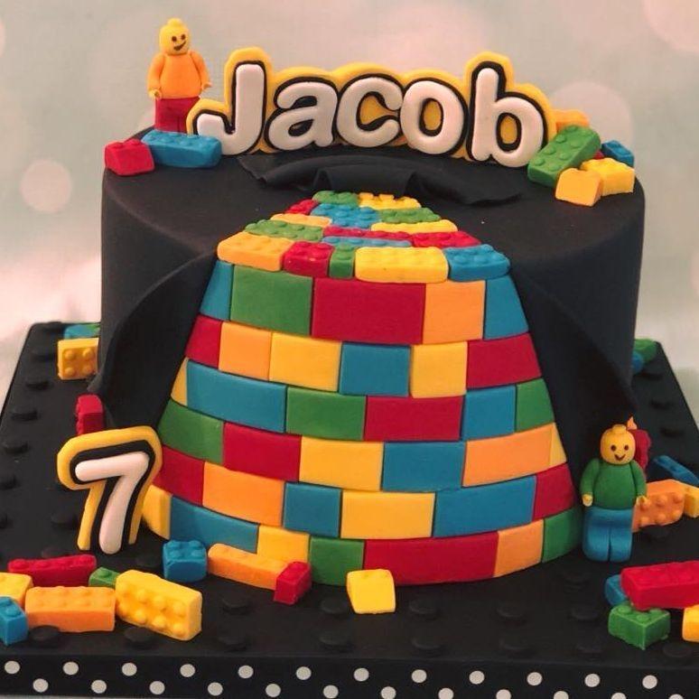 Lego Birthday Cake Blocks Hidden Men