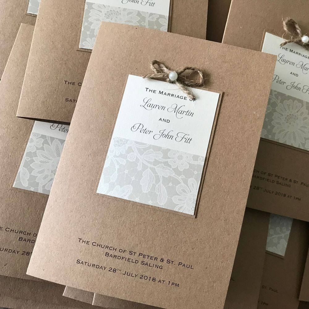Rustic Order of Service Booklet