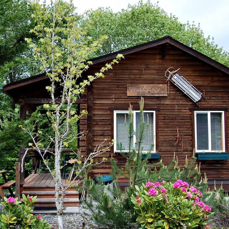 Log cabins, Concrete, Washington, hotels, North Cascades