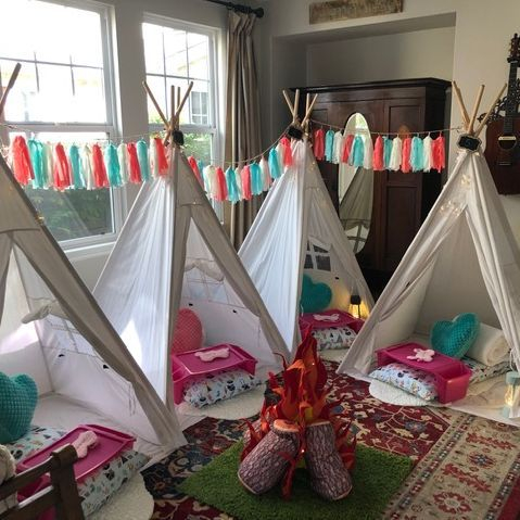 Kids teepee rentals, teepee rentals, kids party rentals, teepee sleepover, sleepover party, teepee party, party planner, kids party planner, kids birthday party, kids birthday parties, Newport Beach, Orange County
