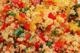 Mediterranean Bell Pepper Quinoa Salad