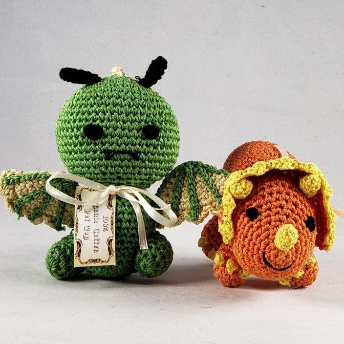 Knit Knacks crochet small dog toys
