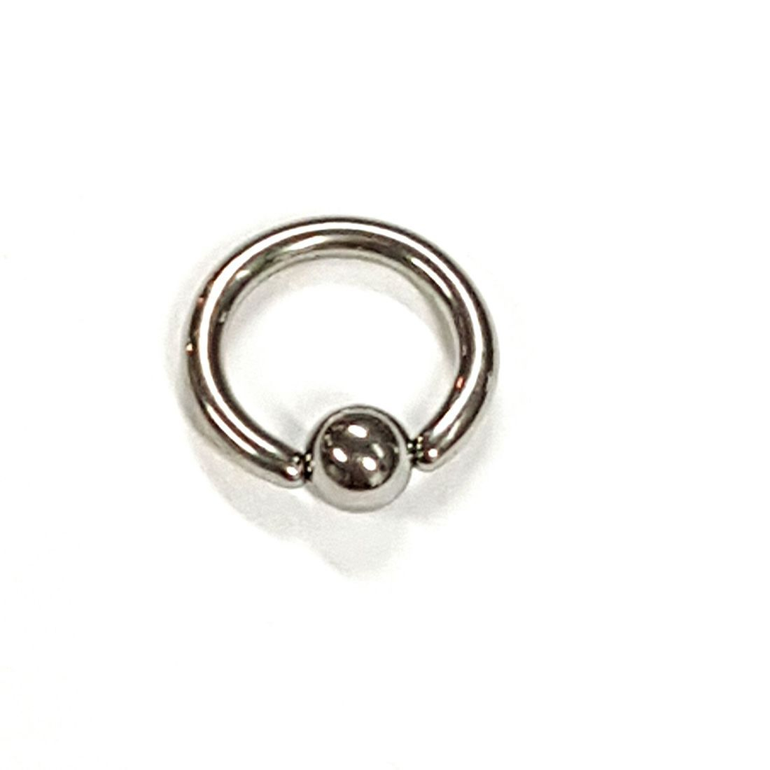 1.2mm x 6mm Silver Ball Closure Ring