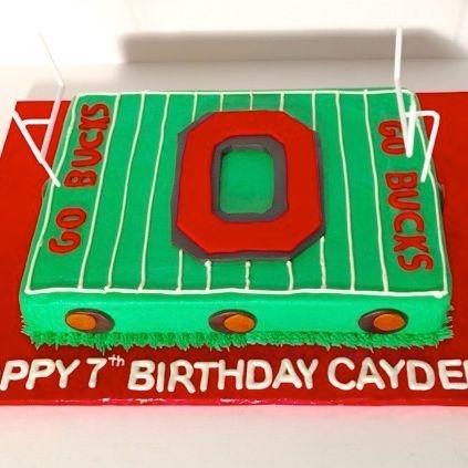 Ohio State University Cake