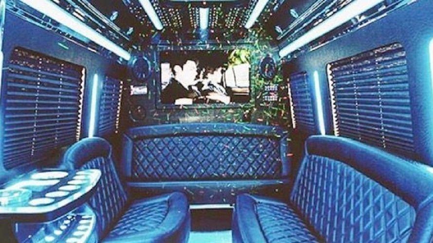 Inside of a Limousine Sprinter.