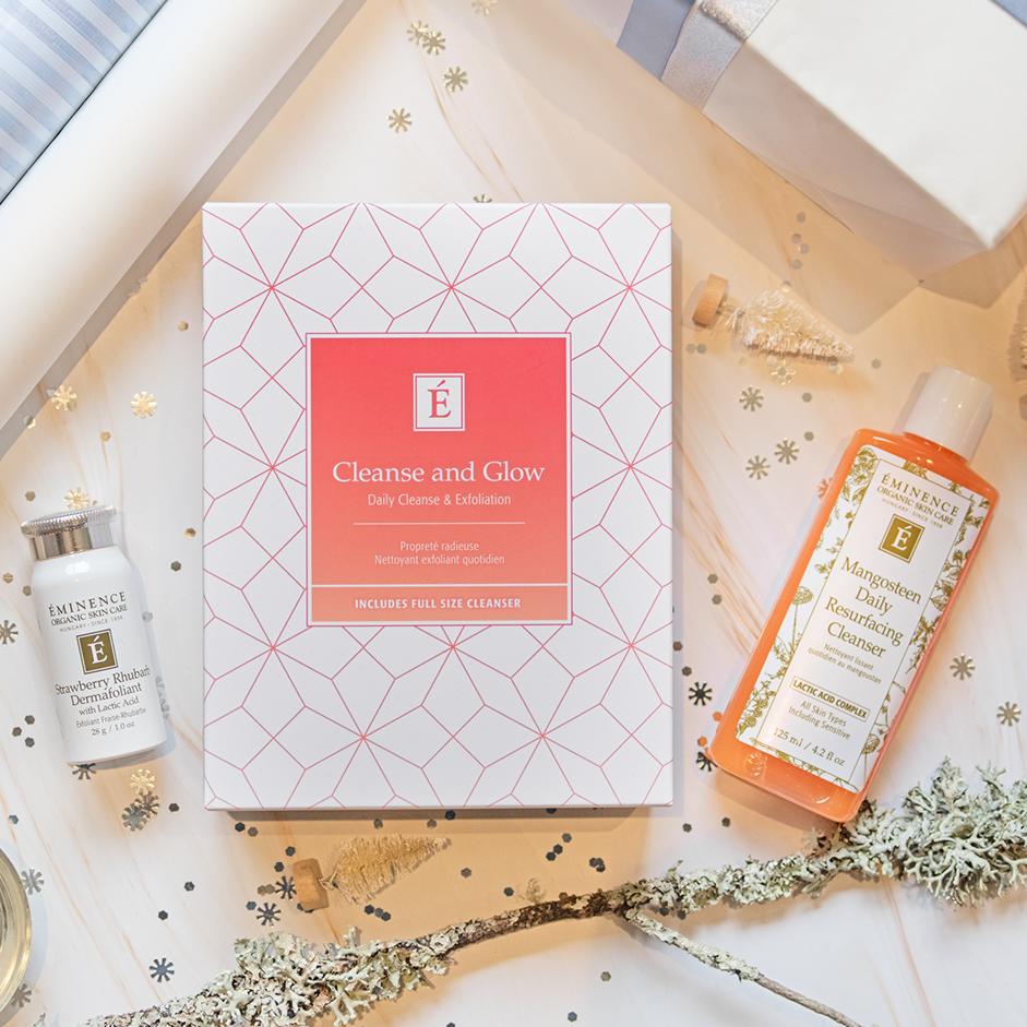 Éminence Cleanse & Glow Holiday 2020 Set, buy eminence organic skincare, eminence spa in ottawa