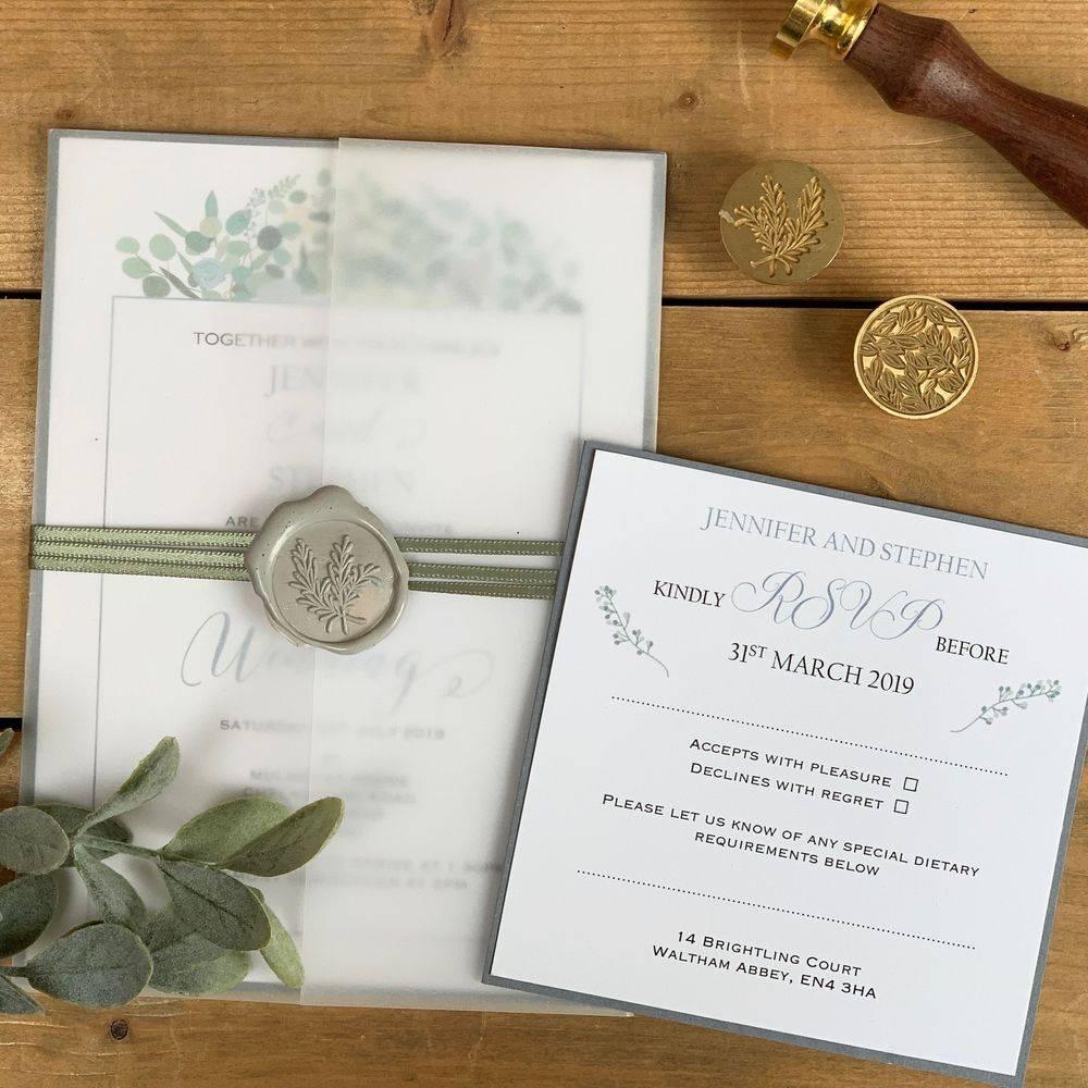 Wax seal Wedding Invitation with RSVP