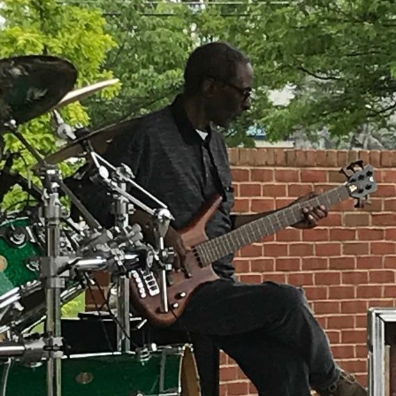 Kenny Johnson on the Bass for The Mojo Priests