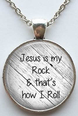 Jesus is my rock necklace