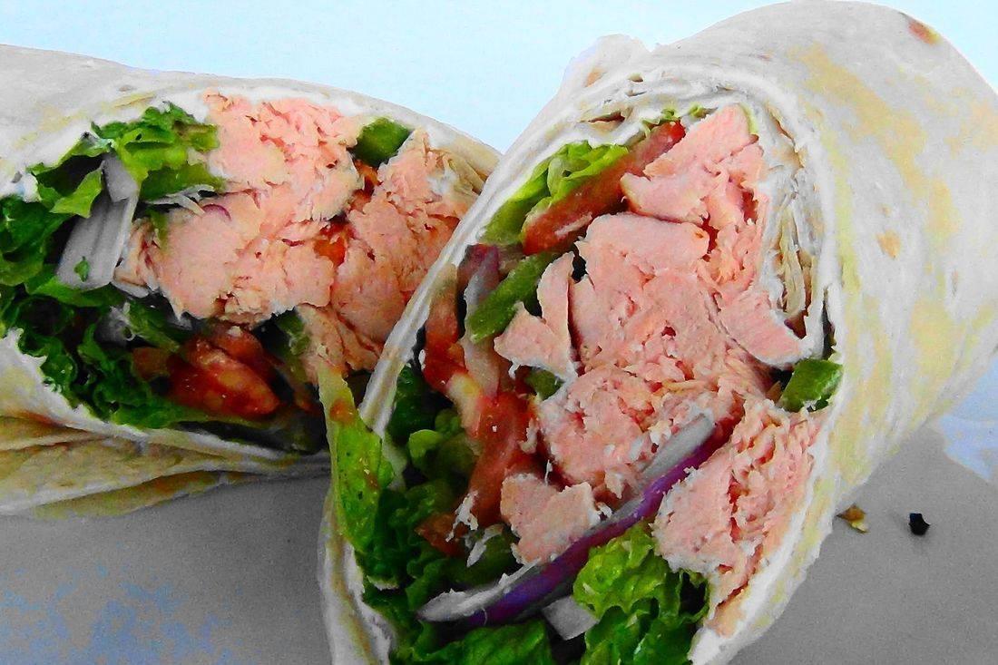 albacore tuna wrap sandwich
