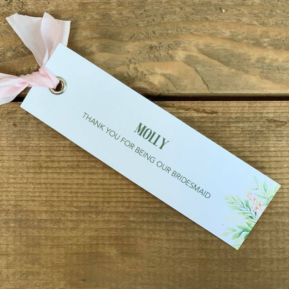 Personalised wedding gift tags - Lilac and White
