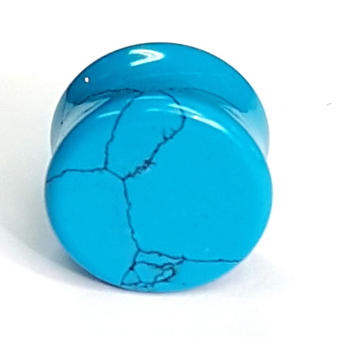 Blue turquoise plug  available at Kazbah online and our Leicester City Centre store