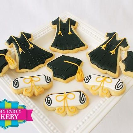 Black Graduation Gown Cap Diploma Cookies Milwaukee