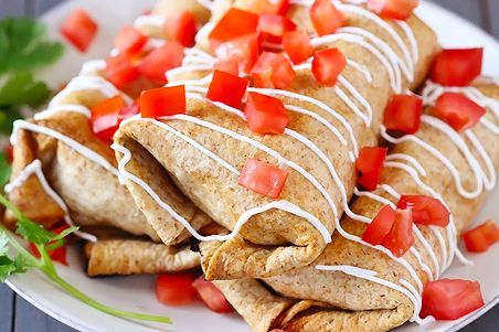 Whole grain tortilla burritos are healthy