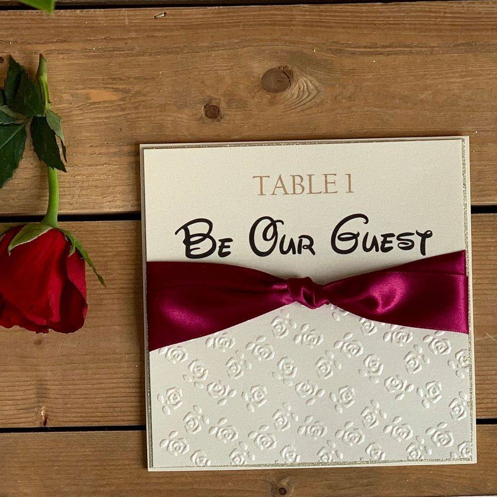Disney Style Wedding Table Numbers, Beauty and the Beast