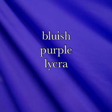 bluish purple lycra