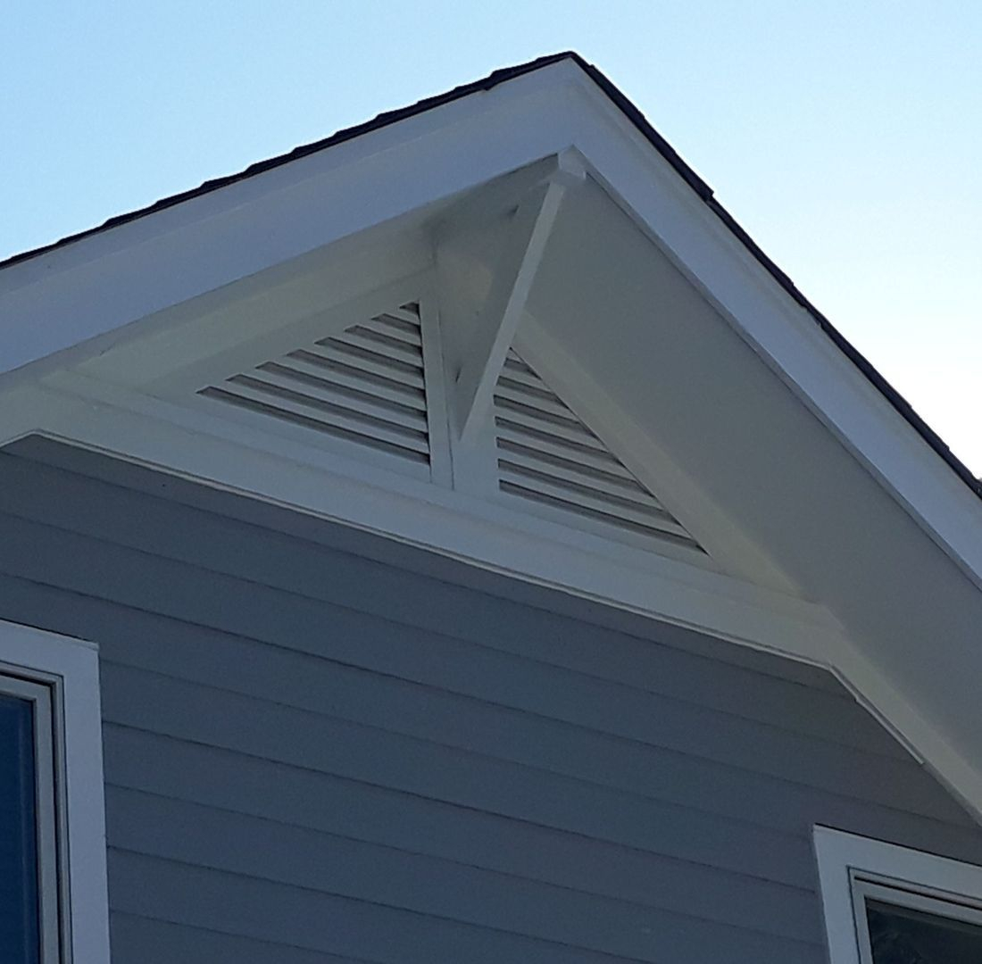 Right Triangle Gable Vent Combo