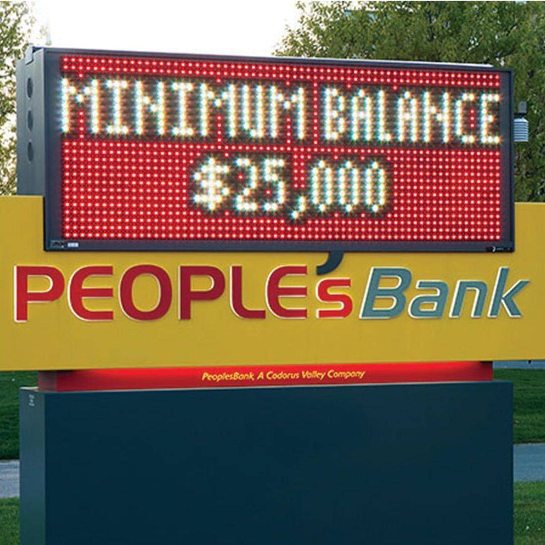 Bank LED Sign, Monument Sign