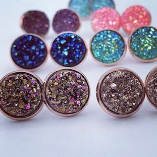 druzy earrings, Barrhaven salon, exhalo spa, shop local Barrhaven
