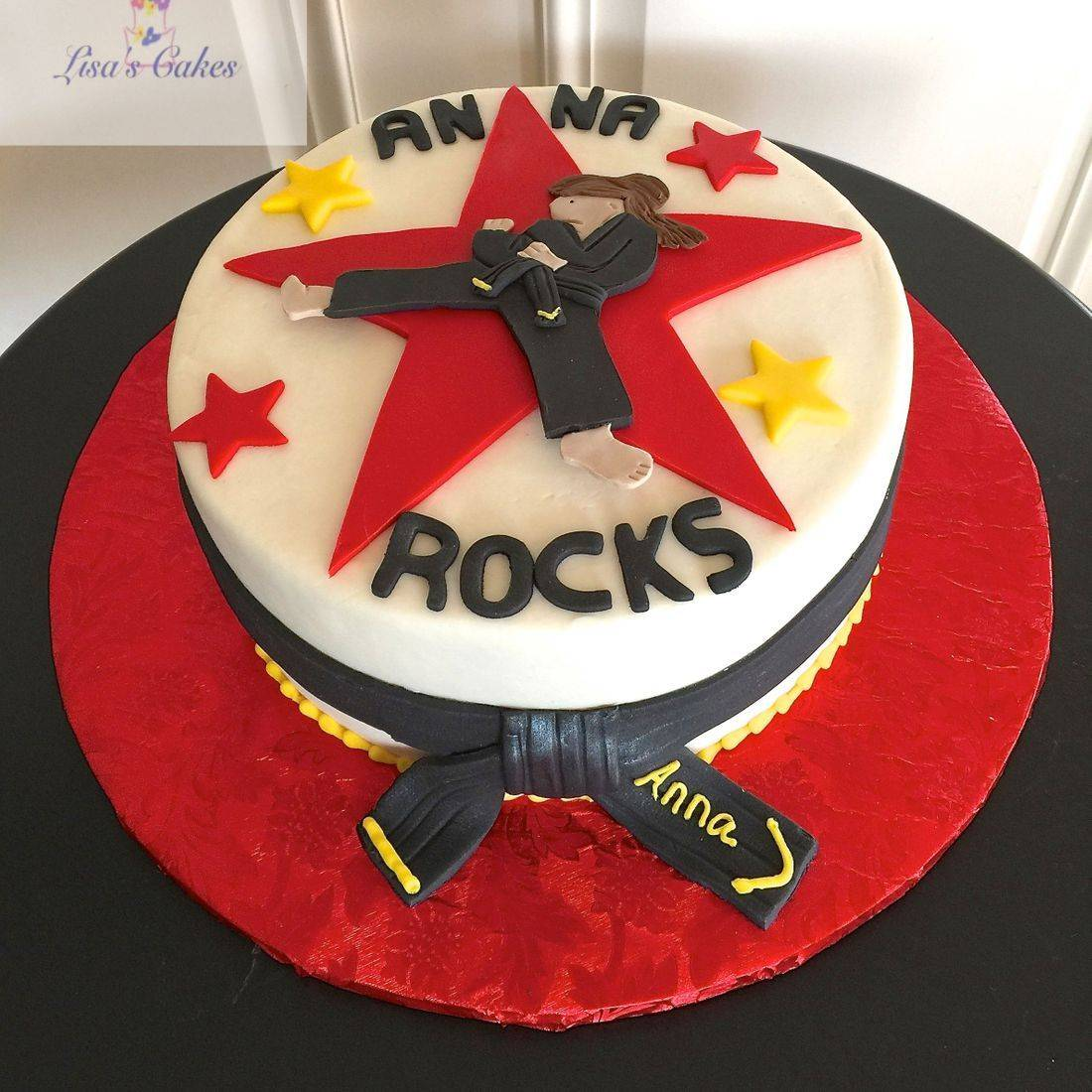 Karate Cake, black belt cake